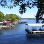 Robins_Nest_View_of_fishing_dock_C_and_Boat_dock_B_from_lakefront_deck_Lake_of_the_Ozarks